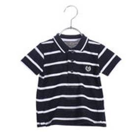 コムサイズム COMME CA ISM ボーダーポロシャツ(ベビーサイズ) (ネイビー)