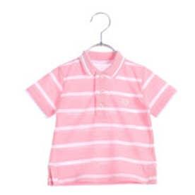 コムサイズム COMME CA ISM ボーダーポロシャツ(ベビーサイズ) (ピンク)