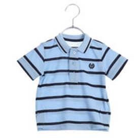 コムサイズム COMME CA ISM ボーダーポロシャツ(ベビーサイズ) (サックス)