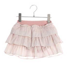 コムサイズム COMME CA ISM ブルマ一体型ティアードスカート (ピンク)