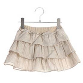 コムサイズム COMME CA ISM ブルマ一体型ティアードスカート (ベージュ)