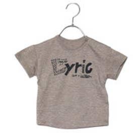 コムサイズム COMME CA ISM 手描きメッセージロゴTシャツ (カーキ)