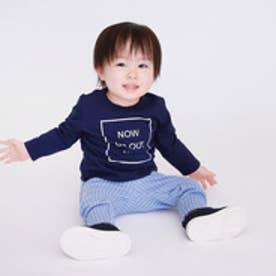 コムサイズム COMME CA ISM Tシャツ&ストライプパンツ ギフトセット 80・90サイズ 男の子向け (ネイビー)