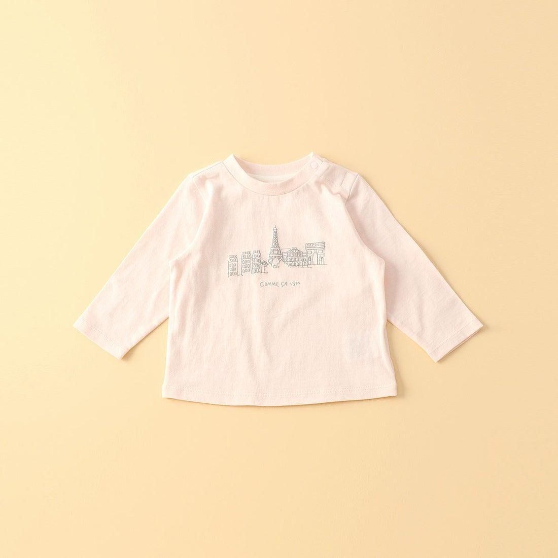 85fa17518f9cc コムサイズム COMME CA ISM  キッズ・ベビーおそろいアイテム  刺繍風プリント 長袖Tシャツ (ピンク) -靴&ファッション通販  ロコンド〜自宅で試着、気軽に返品