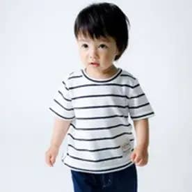 5f02ee4867650  キッズ・ベビーおそろいアイテム コムサイズム COMME CA ISM ボーダー半袖Tシャツ(80・90サイズ) (ホワイト) ¥2