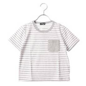 コムサイズム COMME CA ISM 半袖カラーTシャツ (グレー)