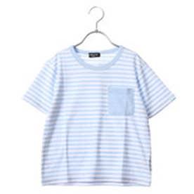 コムサイズム COMME CA ISM 半袖カラーTシャツ (サックス)