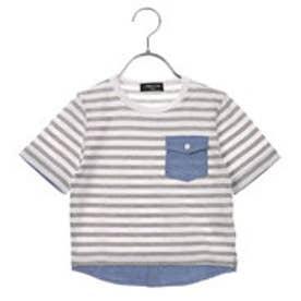 コムサイズム COMME CA ISM ボーダーTシャツ (グレー)