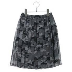 コムサイズム COMME CA ISM 迷彩プリントスカート (ブラック)