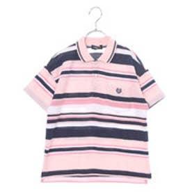 コムサイズム COMME CA ISM ドロップショルダーポロシャツ (ピンク)