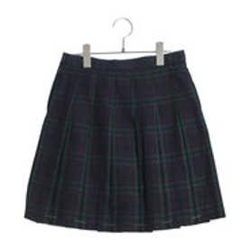 コムサイズム COMME CA ISM クランタータンプリーツスカート(140cm-160cm) (ネイビー)