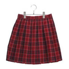 コムサイズム COMME CA ISM クランタータンプリーツスカート(140cm-160cm) (レッド)