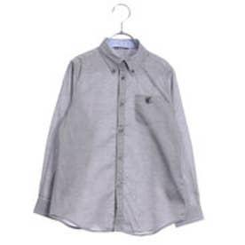 コムサイズム COMME CA ISM ボタンダウンシャツ(100cm-130cm) (ブラック)