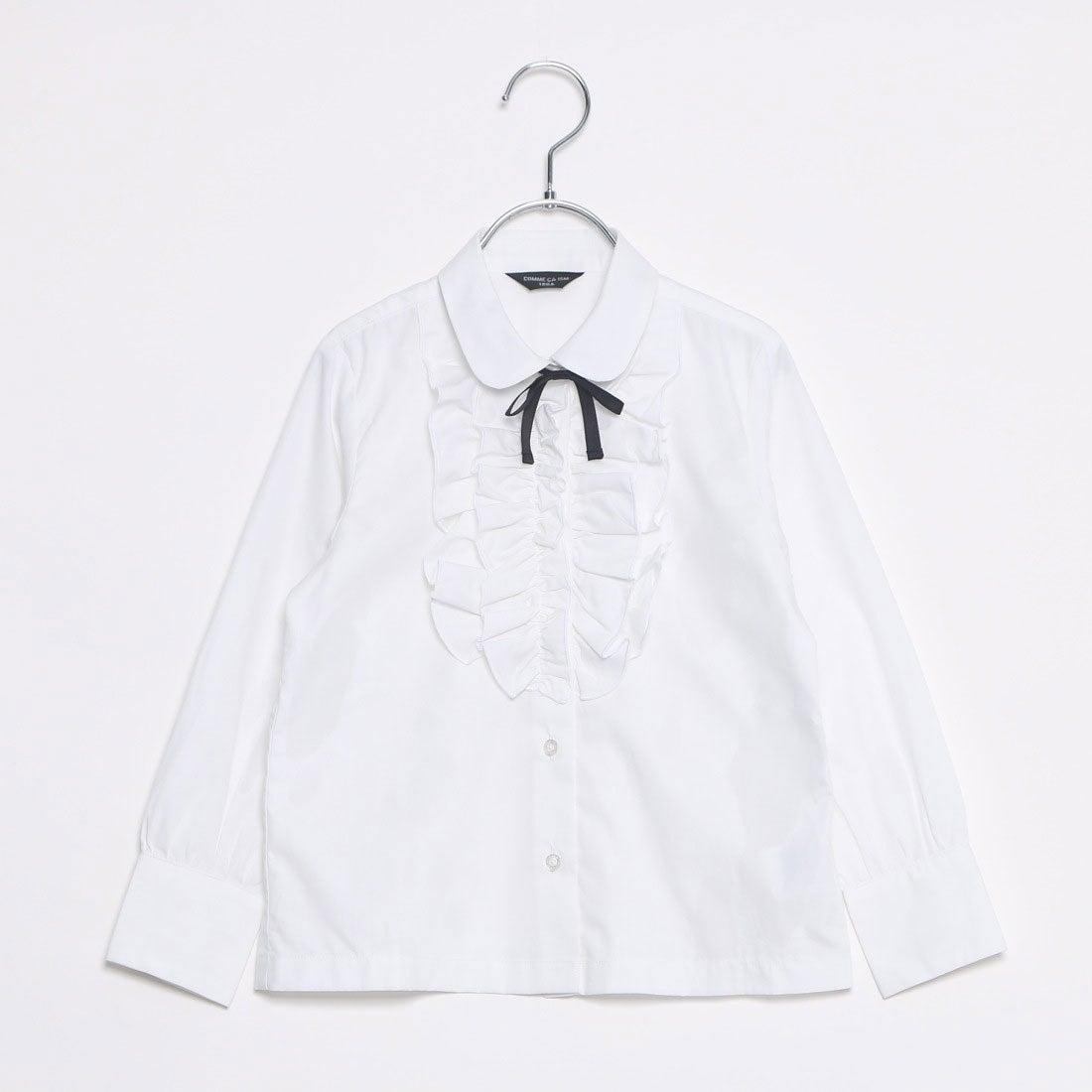 コムサイズム COMME CA ISM リボン付きブラウス(100-130cm) (ホワイト)