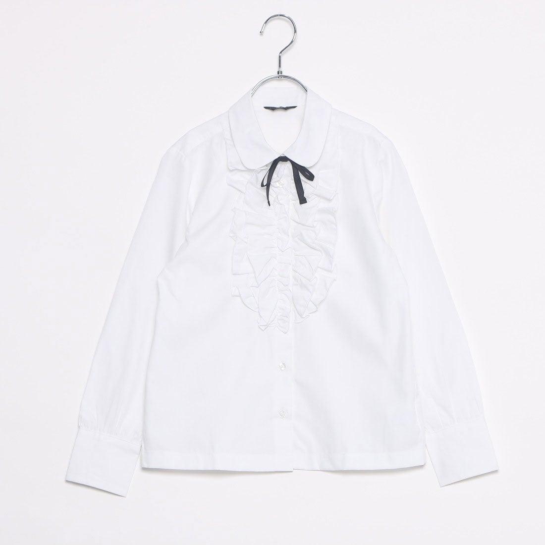 コムサイズム COMME CA ISM リボン付きブラウス(140-160cm) (ホワイト)