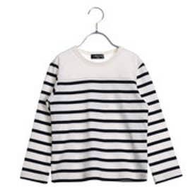 コムサイズム COMME CA ISM ボーダーTシャツ (ホワイト)
