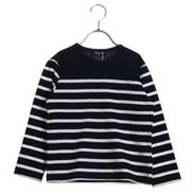 コムサイズム COMME CA ISM ボーダーTシャツ (ネイビー)