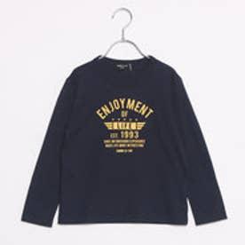 コムサイズム COMME CA ISM プリントTシャツ (ネイビー)