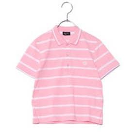 コムサイズム COMME CA ISM ボーダーポロシャツ(キッズサイズ) (ピンク)