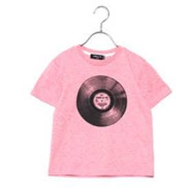 コムサイズム COMME CA ISM レコードプリントTシャツ(キッズサイズ) (レッド)