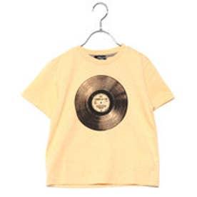 コムサイズム COMME CA ISM レコードプリントTシャツ(キッズサイズ) (イエロー)