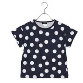 コムサイズム COMME CA ISM ドットTシャツ (ネイビー)