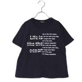 コムサイズム COMME CA ISM ビッグシルエット 切り替え Tシャツ (ネイビー)