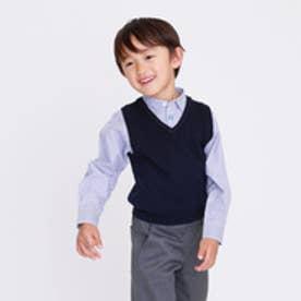 コムサイズム COMME CA ISM 【洗える】イージーケア ロンドンストライプ 長袖シャツ(100~130cmサイズ) (ブルー)
