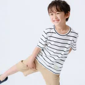 9bb59dae75480  キッズ・ベビーおそろいアイテム コムサイズム COMME CA ISM ボーダー 半袖Tシャツ (ホワイト) ¥2