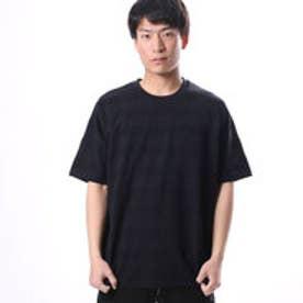コムサイズム COMME CA ISM 編地で表現したボーダーTシャツ (ネイビー)