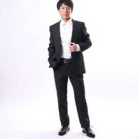 コムサイズム COMME CA ISM すっきりとした細身シルエットのスーツ (チャコール)