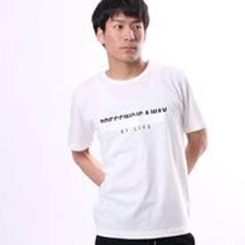 コムサイズム COMME CA ISM 特殊技法のメッセージプリントTシャツ (ホワイト)