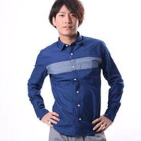コムサイズム COMME CA ISM インディゴドビーコンビシャツ (ブルー)