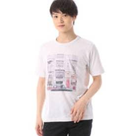 コムサイズム COMME CA ISM 涼しげなカラーフォトプリントTシャツ (ライトグレー)