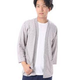 コムサイズム COMME CA ISM VカーディガンとTシャツのセット (ライトグレー)