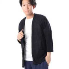 コムサイズム COMME CA ISM VカーディガンとTシャツのセット (ネイビー)