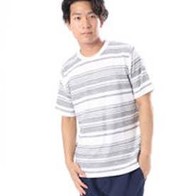 コムサイズム COMME CA ISM かすれボーダーTシャツ (グレー)