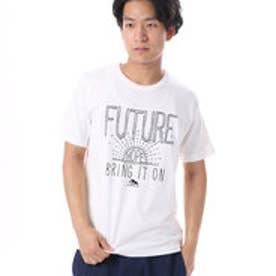 コムサイズム COMME CA ISM リーズナブルな1色プリントTシャツ (ホワイト)