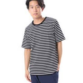コムサイズム COMME CA ISM 抗菌消臭ボーダーTシャツ (ブラック)