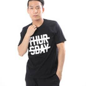 コムサイズム COMME CA ISM リーズナブルなプリントTシャツ (ブラック)