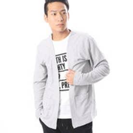 コムサイズム COMME CA ISM Tシャツの上からサラッと羽織れるカーディガン (グレー)
