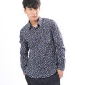 コムサイズム COMME CA ISM フラワープリントシャツ (ネイビー)