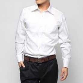 コムサイズム COMME CA ISM セミワイドカラー長袖ドレスシャツピンストライプ (ホワイト)
