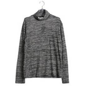 コムサイズム COMME CA ISM タートルネックTシャツ (チャコール)
