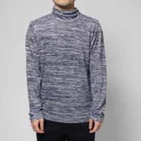 コムサイズム COMME CA ISM タートルネックTシャツ (ネイビー)