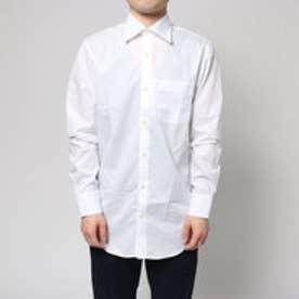 コムサイズム COMME CA ISM 綿100%のイージーケアシャツ (ホワイト)