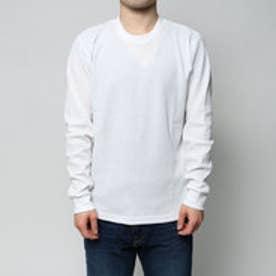 コムサイズム COMME CA ISM 着回しの効くワッフルTシャツ (ホワイト)