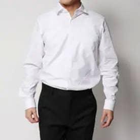 コムサイズム COMME CA ISM 吸水速乾!!!セミワイドカラーシャツ (ホワイト)