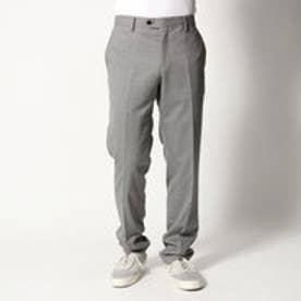 コムサイズム COMME CA ISM すっきりとした細身シルエットのスーツパンツ (ライトグレー)