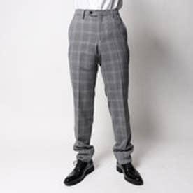 コムサイズム COMME CA ISM すっきりとした細身シルエットのスーツパンツ (グレー)